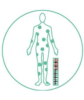 medische, educatieve illustratie ter onderscheid zalven