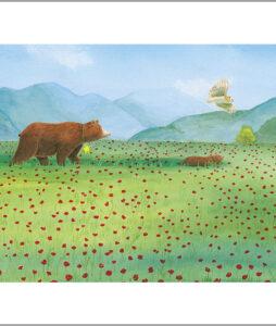 Fine art print uit een ster voor iedereen-dieren op weg