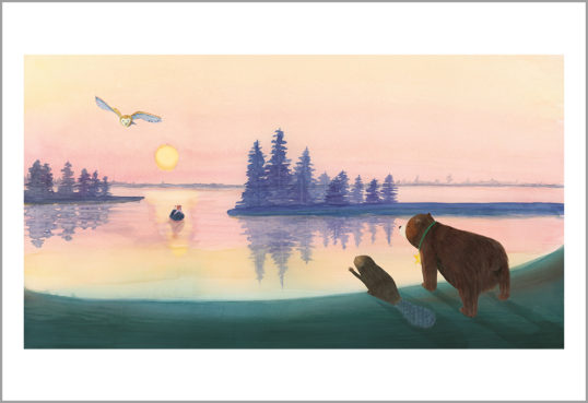 Fine art print from a star for everyone - Bear meets Dog