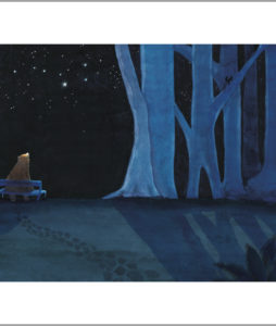 Fine art print from a star for everyone - Bear on his bench