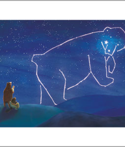 Fine art print from a star for everyone - animals look at the stars