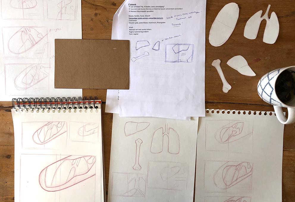 Thumbnails tekenen cursus proefschrift ontwerp